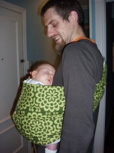 Durmiendo en pouch