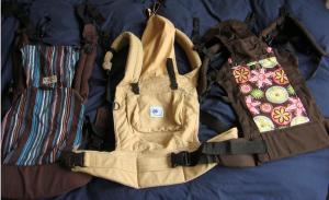 de izda. a dcha. mochilas Yamo, Ergo y Beco Butterfly II