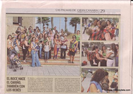 Artículo en periódico Canarias 7